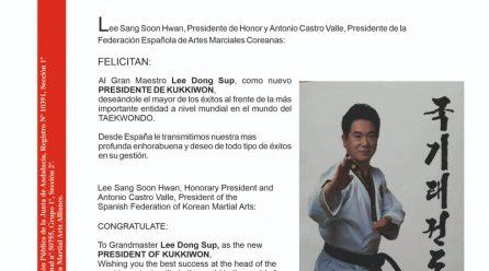 Nuevo Presidente de Kukkiwon